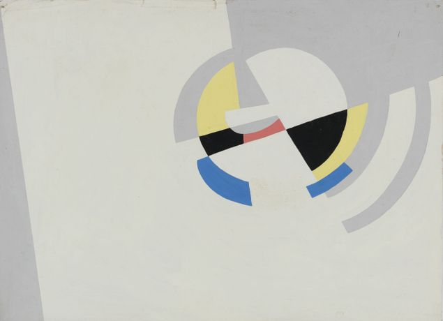 Victor Magariños D., Untitled, c. 1950. Tempera on paper, 23.5 x 32.4cm
