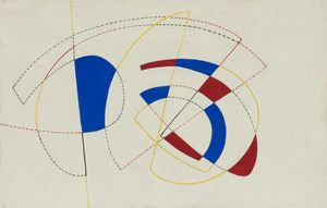 Victor Magariños D., Untitled, c.1950s. Tempera on paper, 19.9 x 31.1cm