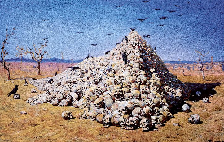 The Apotheosis of War, after Vasily Vereshchagin 2007 Framed chromogenic print mounted on aluminum 180 x 282 cm
