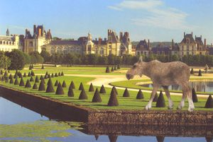 Vikky Alexander. Moose Cow at Fontainebleau (2013)