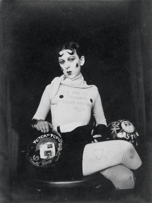 Claude Cahun, Self-portrait (as weight trainer), 1927, exhibition print from monochrome negative Jersey Heritage Trust © Jersey Heritage Collection