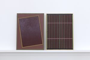 Matts Leiderstam, Panels, 2017 oil and acrylic on poplar panel both 24 x 18 cm