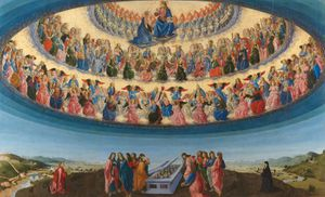 Detail from Francesco Botticini, The Assumption of the Virgin, probably about 1475–6 © The National Gallery, London