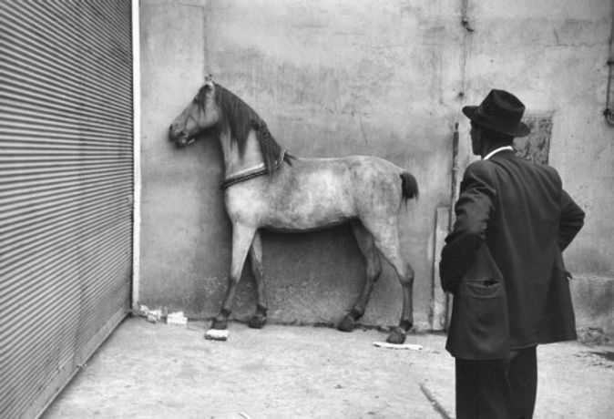 Viktor Kol'ar. Everlasting encounter of gypsy man with horse, 1967