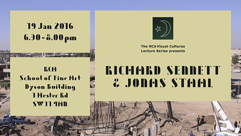Visual Cultures Lecture Series – Richard Sennett & Jonas Staal: Image 0