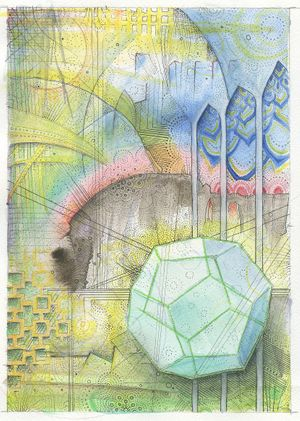 Vocabularies: Mixed media drawings by John Otter