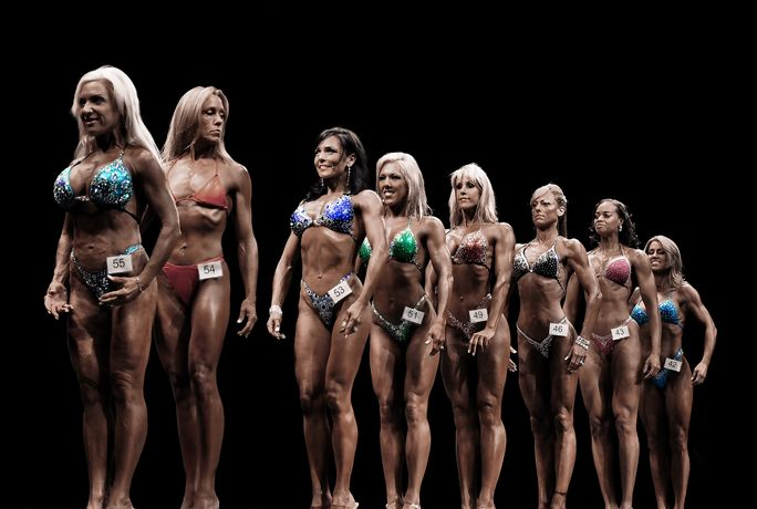 Rachel Rampleman Bodybuilder Study (IFBB, #27) 2015, Archival inkjet print, 40 x 60 in. Presented by X Contemporary, New York