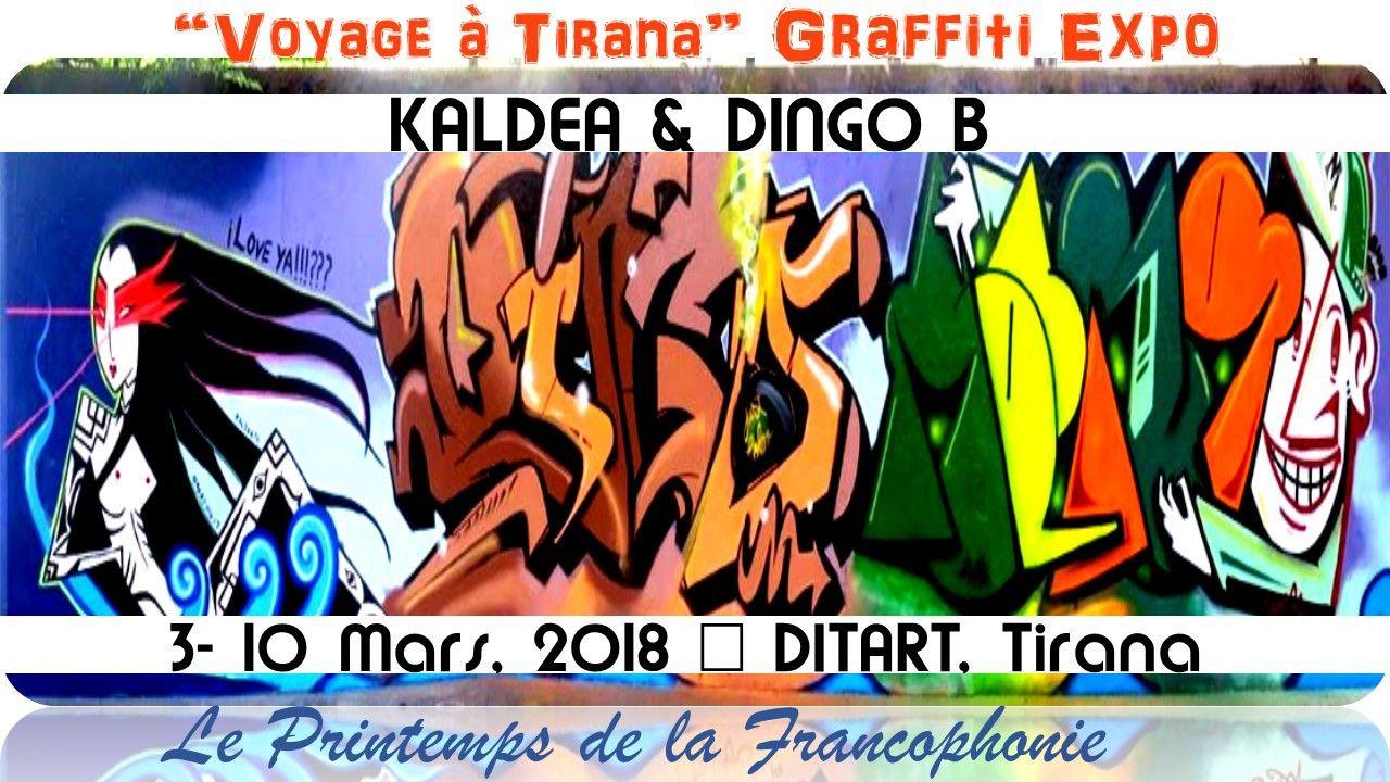 Voyage à tirana graffiti expo kaldea dingo b exhibition at ditart in tirana