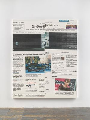 Wade Guyton. The New York Times Paintings: November – December 2015