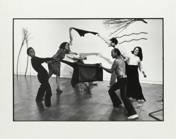 Maren Hassinger, 'High Noon,' 1976. Four black and white photographs. Three framed vertical images: 15 ¼ x 12 ¼ x 1 ¼ inches and one framed horizontal image: 12 ¼ x 15 ¼ x 1 ¼ inches. Courtesy of the artist. Photo by Adam Avila.