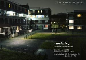 Wandering Exhibition Flyer (photo: Gary W Smith)