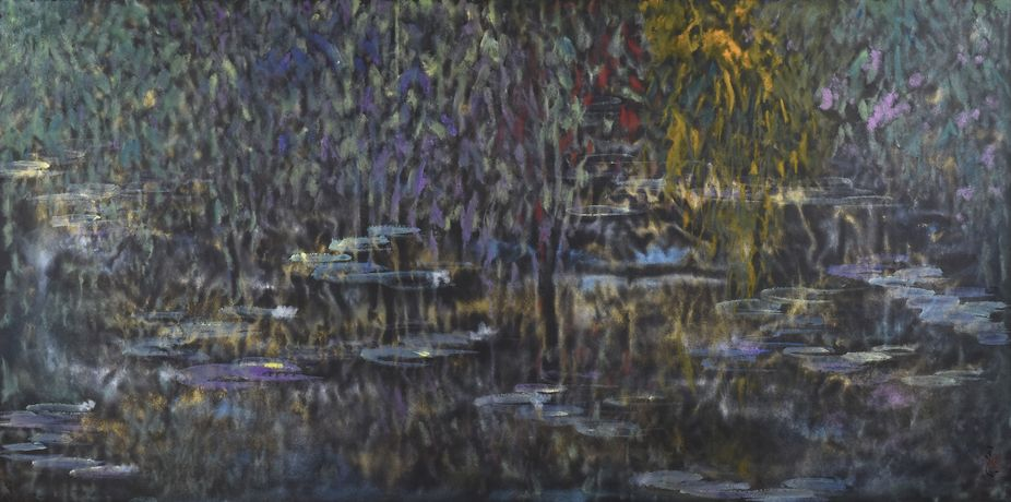 Golden Pond under Colourful Leaves_ Wang Tingxin_2016