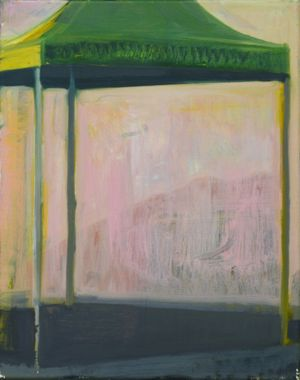 Tom Farthing - Gazebo, 2019, oil on canvas 40x30cm