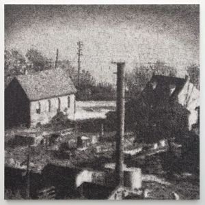 Wayne Gonzales, View of Easton, Pennsylvania, 1936 (after Walker Evans), Acrylic on canvas, 183 x 183cm, (72 x 72in)