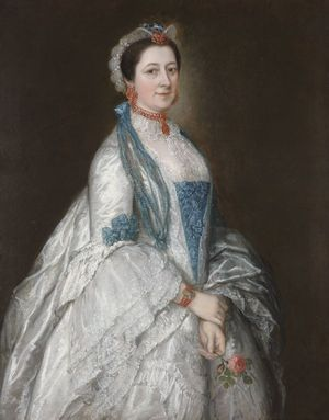 Thomas Gainsborough, Lady Margaret Downing, ca. 1763. Oil on Canvas. Courtesy The Masters, Fellows, and Scholars of Downing College, Cambridge.