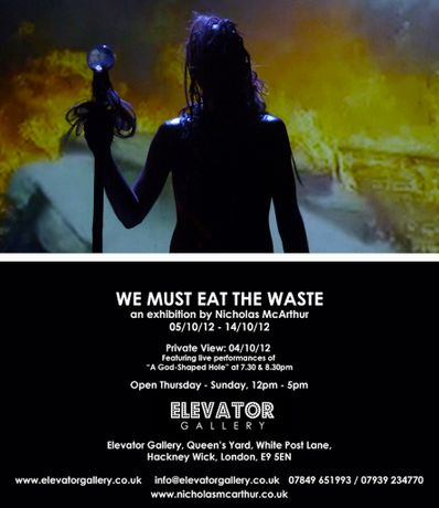 WE MUST EAT THE WASTE: an exhibition by artist Nicholas McArthur: Image 0