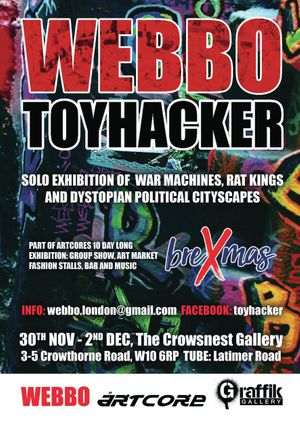 webbo toyhacker, solo show book launch