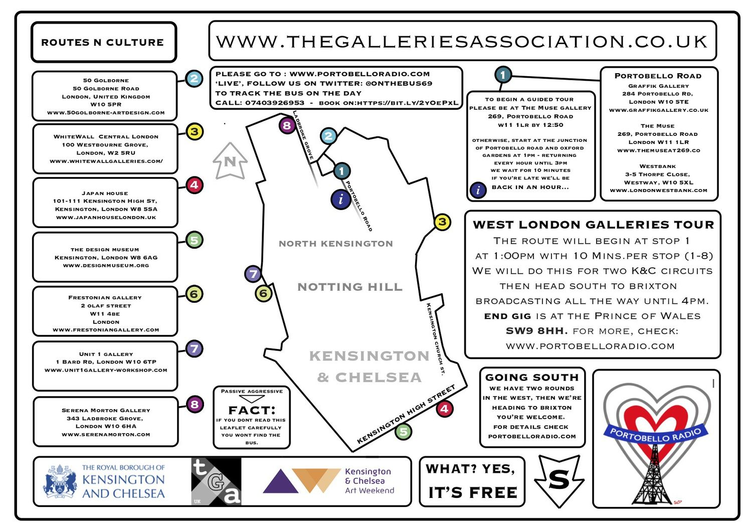 Chelsea Gallery Map on