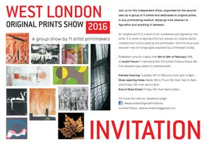 WEST LONDON ORIGINAL PRINT SHOW 2016