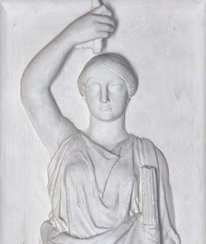Detail of English Law by John Flaxman, plaster 1801