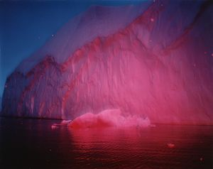 Red Ice-White Ice, Chris Wainwright, C type colour photographs on aluminium. Disko Bay, Greenland, 2008/9