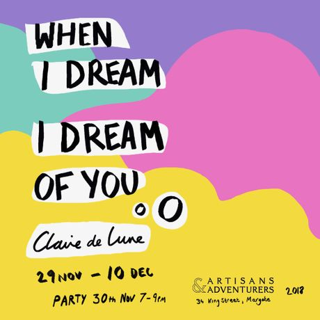 Claire de Lune - when I dream I dream of you - Event Poster