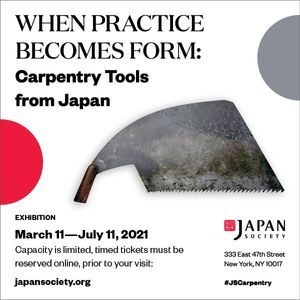 When Practice Becomes Form: Carpentry Tools from Japan