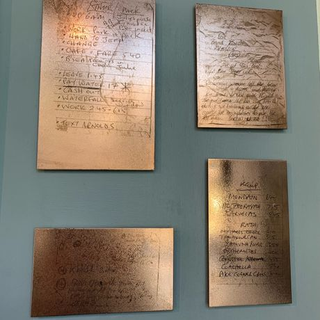 London Conversations 003. Found notes etched onto copper plate