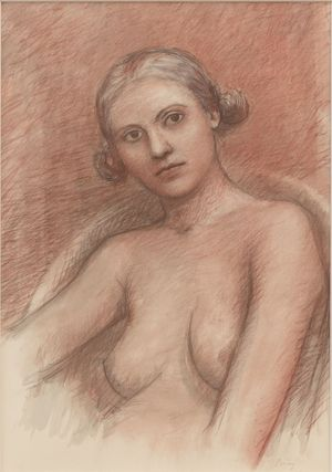William Bailey, Untitled, nd., Pastel, watercolor and graphite on paper, 28 x 19 1/2 inches