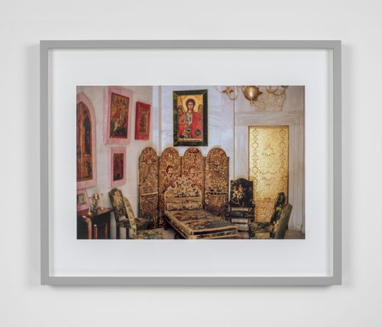 William E. Jones, Villa Iolas (Byzantine Icons, Gold Door), 1982/2017, Hand coated ink jet print
