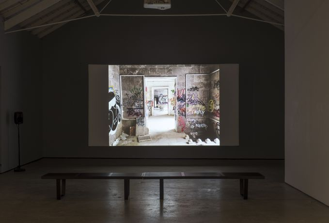 William E. Jones, Installation view, Fall into Ruin (2017), The Modern Institute, Osborne Street, Glasgow, 2017. Photography: Max Slaven