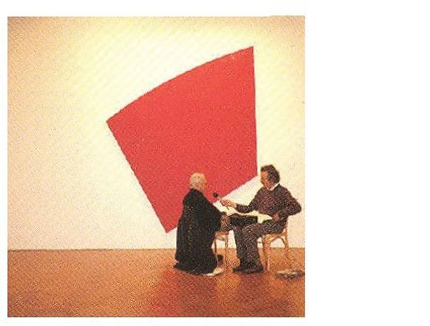 William Furlong Fragmented: a red couch, a blue curtain, a black piece of furniture: Image 0