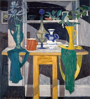 William Gillies, Shadowed Interior, 1961. ©The Royal Scottish Academy of Art & Architecture
