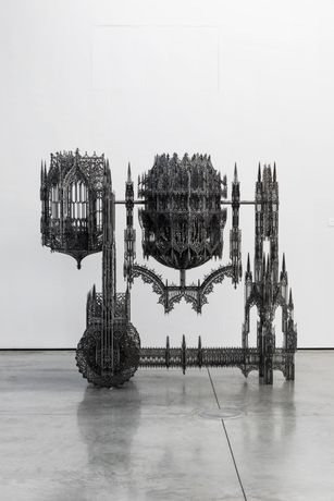 Wim Delvoye personal show. Courtesy Gary Tatintsian Gallery and artist's studio.
