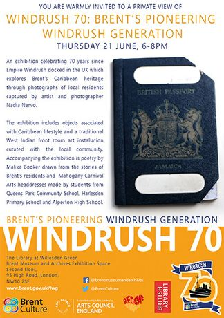Windrush 70 – Brent's Pioneering Windrush Generation invite