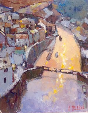 Staithes, Winter Morning by Anthony Marshall