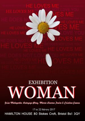WOMAN Art Exhibition Flyer
