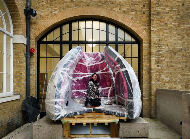 Women Make Sculpture Commission : Dissent Module (Escape from Semiramis)  by Rachel Are