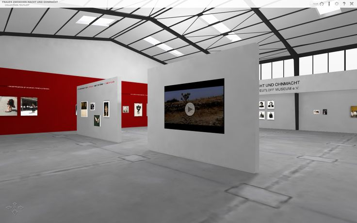 Screenshot of the virtual exhibition