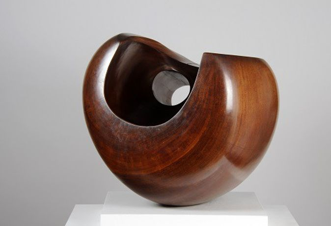 (Image credit:  Barbara Hepworth [1903-75]  Configuration (Phira) 1955, Scented Guarea wood. Courtesy Leeds Museums and Galleries, Leeds Art Fund and Barbara Hepworth Estate)