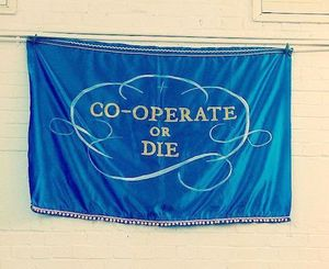 Image: Tatiana Baskakova, Co-operate or Die, 2014 (photo: Tristan Lathey)
