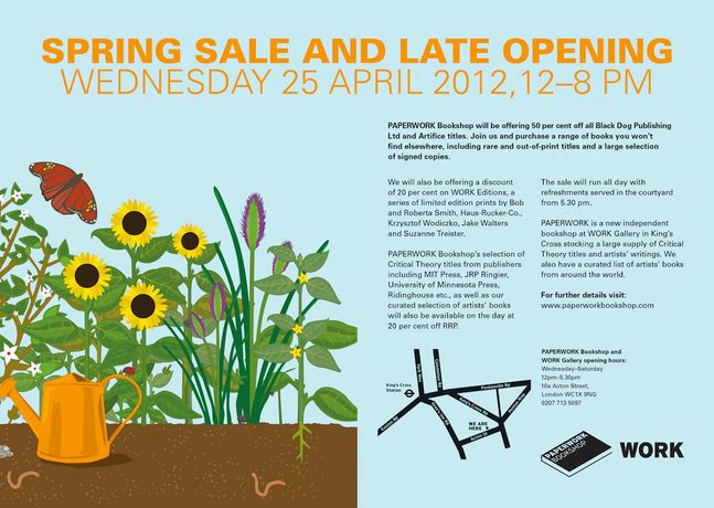 WORK Gallery and PAPERWORK Bookshop Spring Sale: Image 0