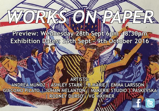 WORKS ON PAPER 29th September - 9th October 2016: Image 0