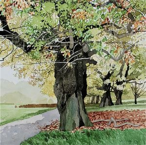 Ian Sidaway RI, Autumn Hampstead Heath I
