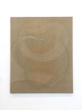 Yelena Popova, Untitled, Evaporating Paintings, mica on Linen, 2016