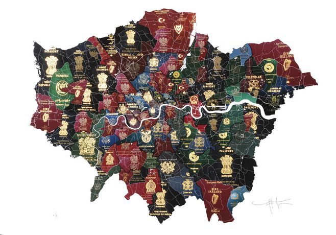 Yanko Tihov, London Passport Map, digital print