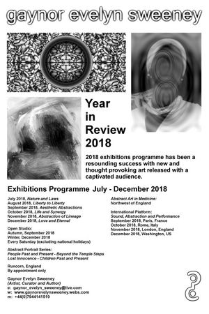 Year in Review - Events Programme, Gaynor Evelyn Sweeney (Artist, Curator and Author)