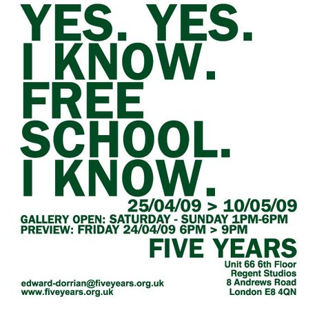 YES. YES. I KNOW. FREE SCHOOL. I KNOW. Selected by Ana Cavic, Edward Dorrian, Renee O'Drobinak, Claire Nichols: Image 0
