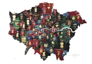 London Passport Map. Yanko Tihov.