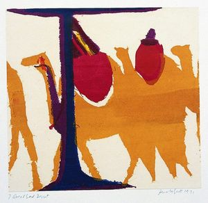 Pamela Scott Wilkie, Great Sand Desert, Iran (c.1970). Silk Screen print